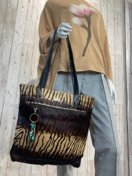 Mary Daugherty - Animal Print Leather Shopper