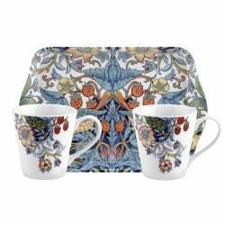 Pimpernel Morris & Co Mug & Tray Set - Strawberry Thief