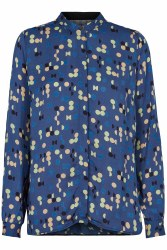 Noa Noa Geo Print Shirt 16 Blue