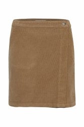 Part Two Talya Cord Skirt 8 Tobacco