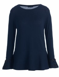 Riverwoods Beaded Sleeve Jumper