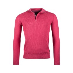 Baileys Textured 1/4 Zip Jumper M Pink