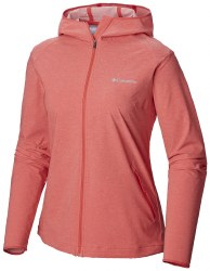 Columbia Heather Canyon Softshell L/L Red Coral
