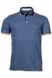 Baileys Pique Melange Poloshirt M Navy