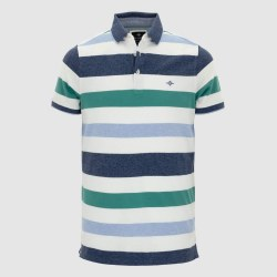 Baileys Multi Stripe Poloshirt L Green