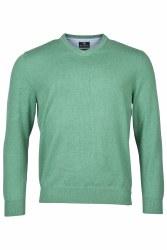 Baileys Cotton V Neck Jumper M Light Green