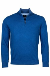 Baileys Cotton Quarter Zip Jumper XXL Blue
