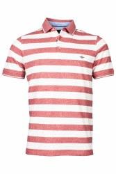 Baileys Melange Stripe Poloshirt XXL Red