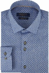 BEnetti Andy Print Shirt M Blue