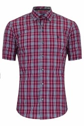 Benetti Carl Check Shirt M Mulberry
