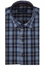 Benetti Carl Check Shirt M Navy