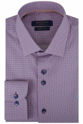 BEnetti Craig Geo Shirt M Blue/Red