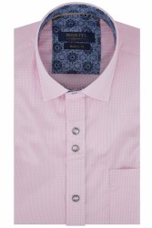 Benetti David Gingham Shirt M Pink