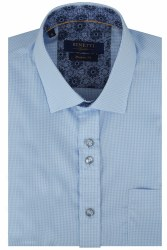 Benetti David Gingham Shirt M Sky