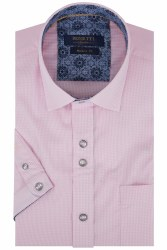 Benetti David Gingham Shirt M Pink