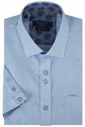 Benetti David Gingham Shirt M Sky