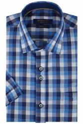 Benetti Drew Short Sleeve Shirt M Blue