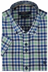 Benetti Gary Multi Check Shirt M Mint