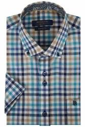 Benetti Gary Multi Check Shirt 3XL Sand