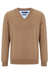 Benetti V Neck Jumper M Biscuit