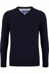 Benetti V Neck Jumper M Navy