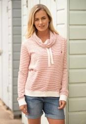 Brakeburn Cowl Neck Sweater 12 Ecru