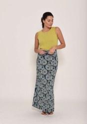 Brakeburn Apple Maxi Skirt 8 Midnight Blue