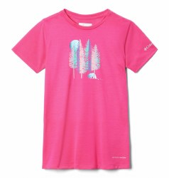 Columbia Girls Ranco Lake T Shirt XXS Cactus Pink
