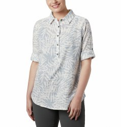 Columbia Summer Ease Popover Shirt S Cirrus Grey