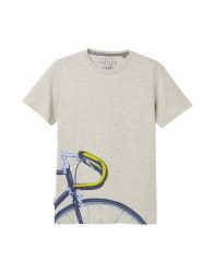 Joules Flynn Bike T Shirt S Grey