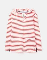 Joules Lisa Stripe Hoodie 16 Cream Red
