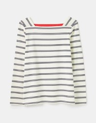 Joules Matilde Breton Top 16 Cream Navy