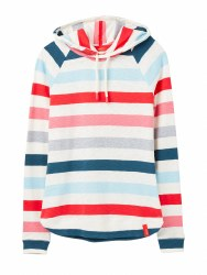 Joules Marlston Stripe Hoodie14 Cream/Pink Stripe