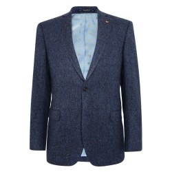 Magee Donegal Tweed Jacket 54R Navy