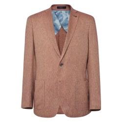 Magee Cotton/Silk Blend Jacket 42R Rust