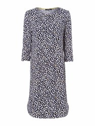 Olsen Dot Print Jeresy Dress 14 Navy
