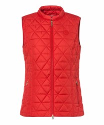 Olsen Recycled Diamond Quilt Gilet 14 Red