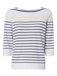 Olsen Boat Neck Stripe Jumper 10 White