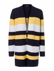 Olsen Block Stripe Cardigan 10 Navy