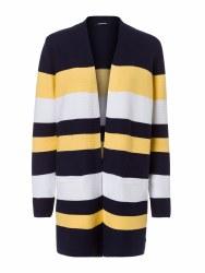 Olsen Block Stripe Cardigan 12 Navy