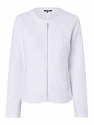 Olsen Textured Jeresy Zip Jacket 10 White