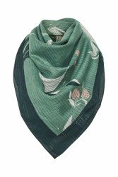 Part Two Adia Print Scarf Green