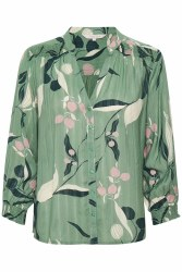 Part Two Belis Print Shirt 16 Green