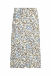 Part Two Carina Floral Skirt 14 Blue