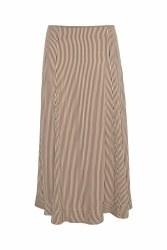 Part Two Dilani Stripe Skirt 14 Brown