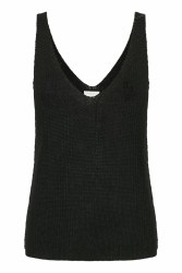 Part Two Camerona Knit Top XS Black