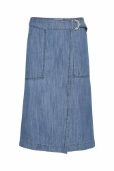 Part Two Blerina Denim Skirt 18 Blue