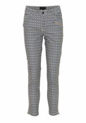 Soya Concept Geo Print Trousers 20 Blue