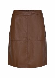 Soya Concept Leather Look Skirt 20 Caramel