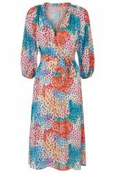 Traffic People Dot & Print Dress L Multi